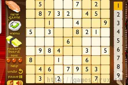 play a game of sudoku for free!